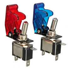 1PCS Red Blue 12V 20A Car Auto Cover LED Light SPST Toggle Rocker Switch Control On/Off Durable 2016 New Low Price(China (Mainland))