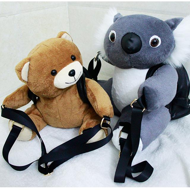 Рекомендуем персонализированные мода коала плюшевый мишка милый мини рюкзак школьный рюкзак мужчин и женщин подарок бесплатная доставка
