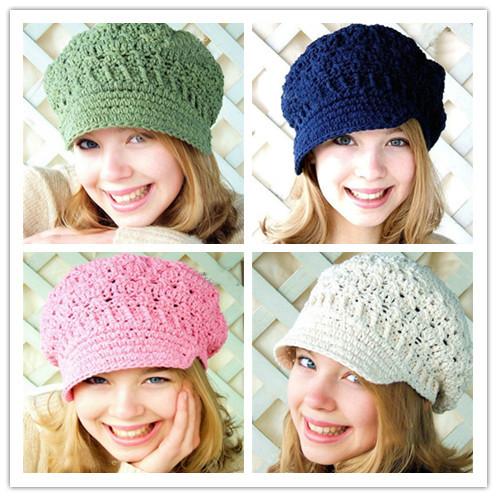 XL size New toddler hat Spring beanie women's newsboy hat crochet adult hats knitting patterns women Beret hats free shipping(China (Mainland))