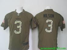 2016 Men Seattle Seahawks #3 Russell Wilsons #12 Fan #24 Marshawn Lynch Green Salute To Service Limited Stitched(China (Mainland))
