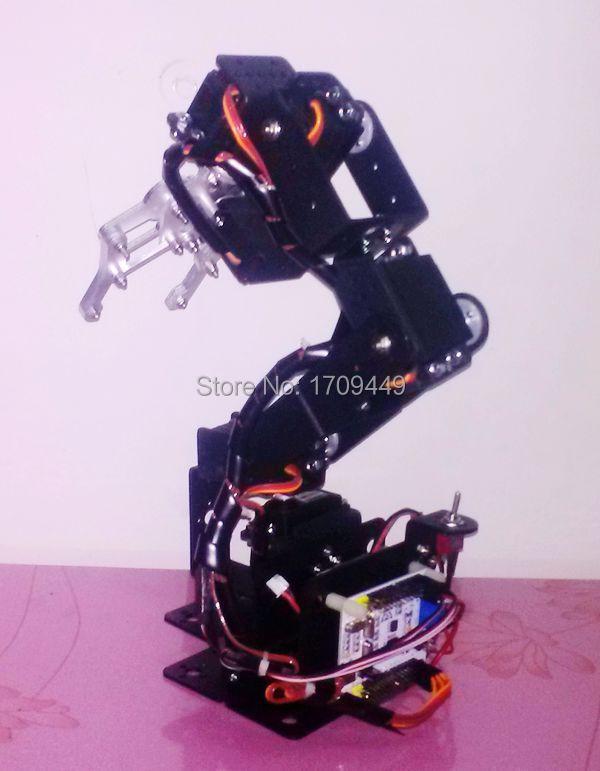 free shipping new 6 dof swivel rotating machinery mechanical robot structure full set robotic arm(China (Mainland))