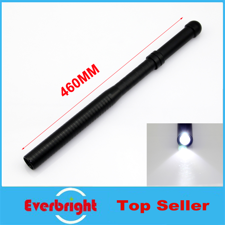 2015Real Rechargeable Cree Q5 Led Super Bright Baseball Flashlight self defense Torch 1000Lumens Tactic Camping baton Flashlight(China (Mainland))
