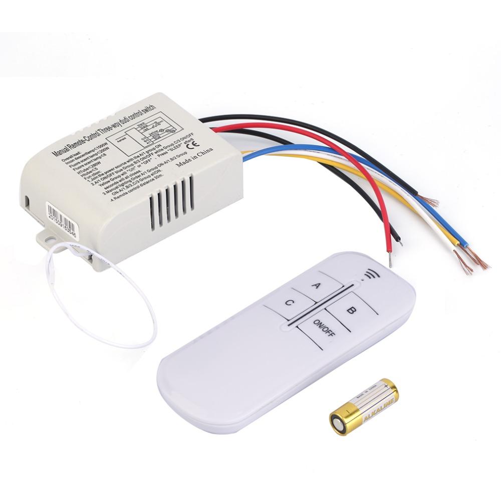 hot 220v 3 way on off digital rf remote control switch. Black Bedroom Furniture Sets. Home Design Ideas