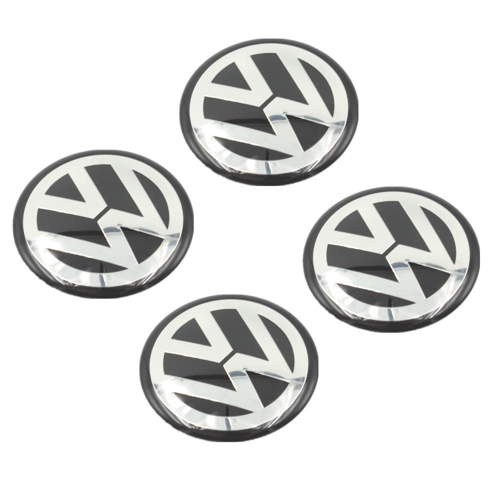 4Pcs Car VW Stickers Wheel Center Fits Hub Cap Stickers 56mm 64.5mm 70mm VW wheel center emblems for polo golf passat touran(China (Mainland))