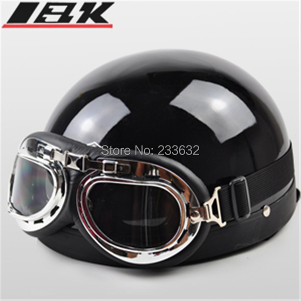 Rushed Motos Motorcycle Helmets free Shipping ! New Summer Helmet Open Face Half motocross Goggles Motorbike Moto Capacete(China (Mainland))