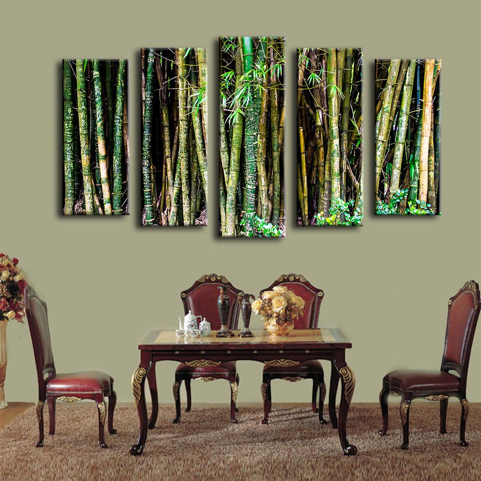 Compra pintura de pared de bamb online al por mayor de for Color bambu pintura