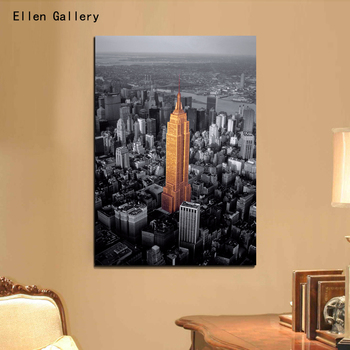 Canvas Painting Empire State Building New York City Wall Pictures For Living Room Quadro Cuadros Decoration Home Decor No Frame