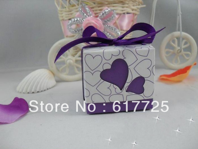 DHLFree shipping,300pcs - Fashion Heart Style Favor Candy Gift Boxes, Wedding Candy Box, 2 Colors, Wholesale Price
