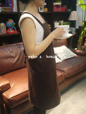 Smiley 100% cotton aprons fashion coffee milk tea printing