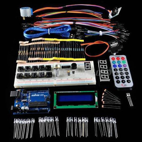 Brand New Saling OSOYOO UNO R3 Board Kit 1602 LCD Servo Motor Sensor LED Arduino Starter DIY