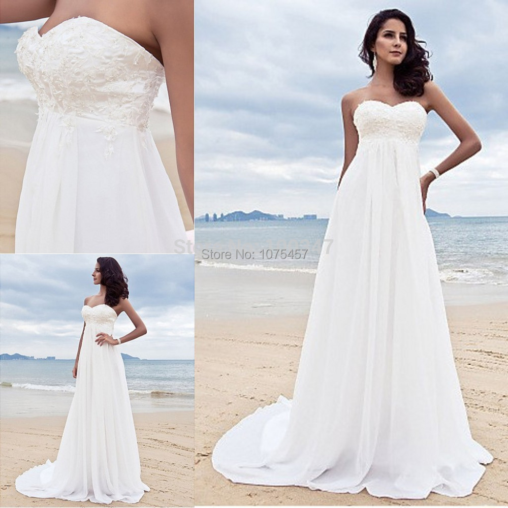 new arrival beach style wedding dress 2015 sweetheart With maternity beach wedding dresses