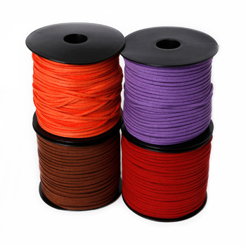 New Arrival 3mm mixed color Faux Suede Cord Leather Lace For Clothes Shoes Jewelry Findings Beading Cord about 100yards/roll