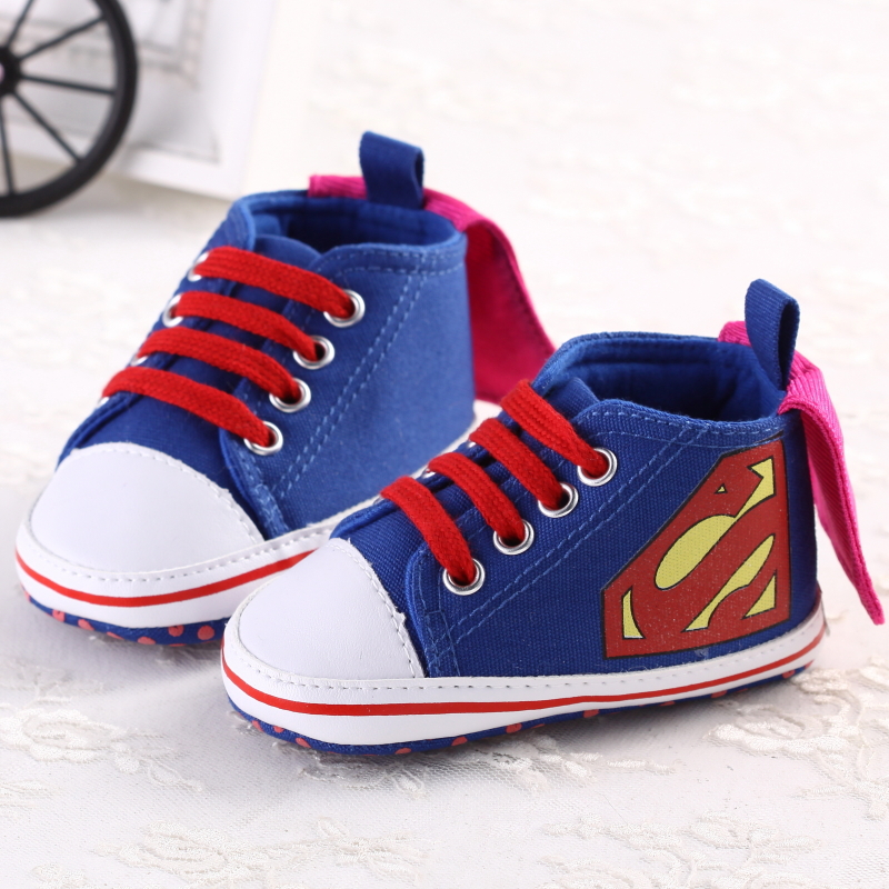newborn boys shoes blue Superman fashion toddler baby soft sole first walkers footwear kid children - Love Your Life Shop store