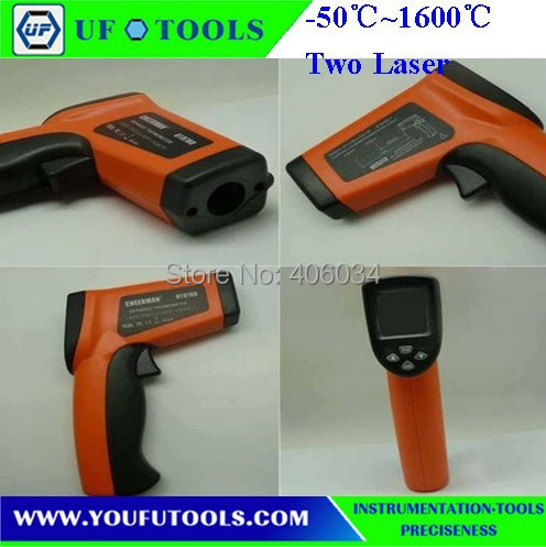 UF-8016H Hand-held Portable Digital Double laser Infrared /Mini Infrared Thermometer -50~1600 degree<br><br>Aliexpress