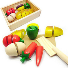 free shipping Small wooden box toys for children puzzles mother wooden fruit toy Educational Toys(China (Mainland))
