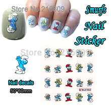 Nail Sticker 1 Sheet Blue Cartoon Spirit Nail Art Water Transfer Sticker Decal Sticker For Nail Art Decoration BLE1603(China (Mainland))