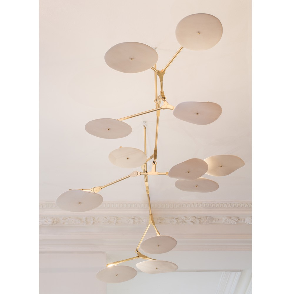 Lindsey Adelman Aluminum 12 Discs Ceiling Light,Chandelier,Lamp,Pendent ,Suspension,Kronleuchter,Luminaria,Luces,Lamparas Vidrio<br><br>Aliexpress