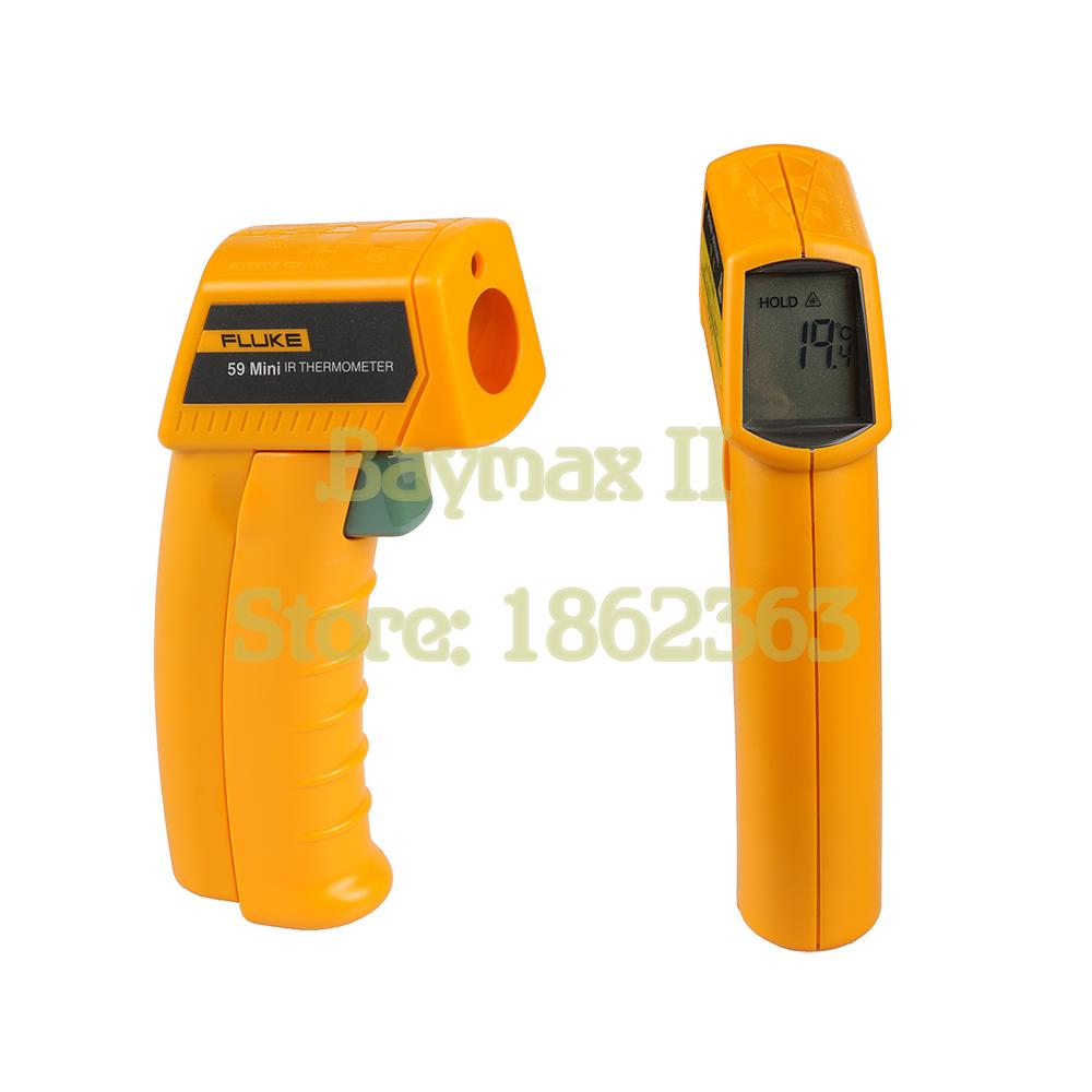 Fluke 59 mini Non-Contact Digital Laser Temperature Gun IR Infrared Thermometer Sight -18~275C(0~525F) Emissivity 0.95 8:1(China (Mainland))
