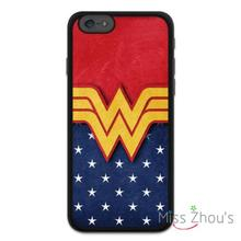 Vintage Wonder Woman Classic back skins mobile cellphone cases for iphone 4/4s 5/5s 5c SE 6/6s plus ipod touch 4/5/6