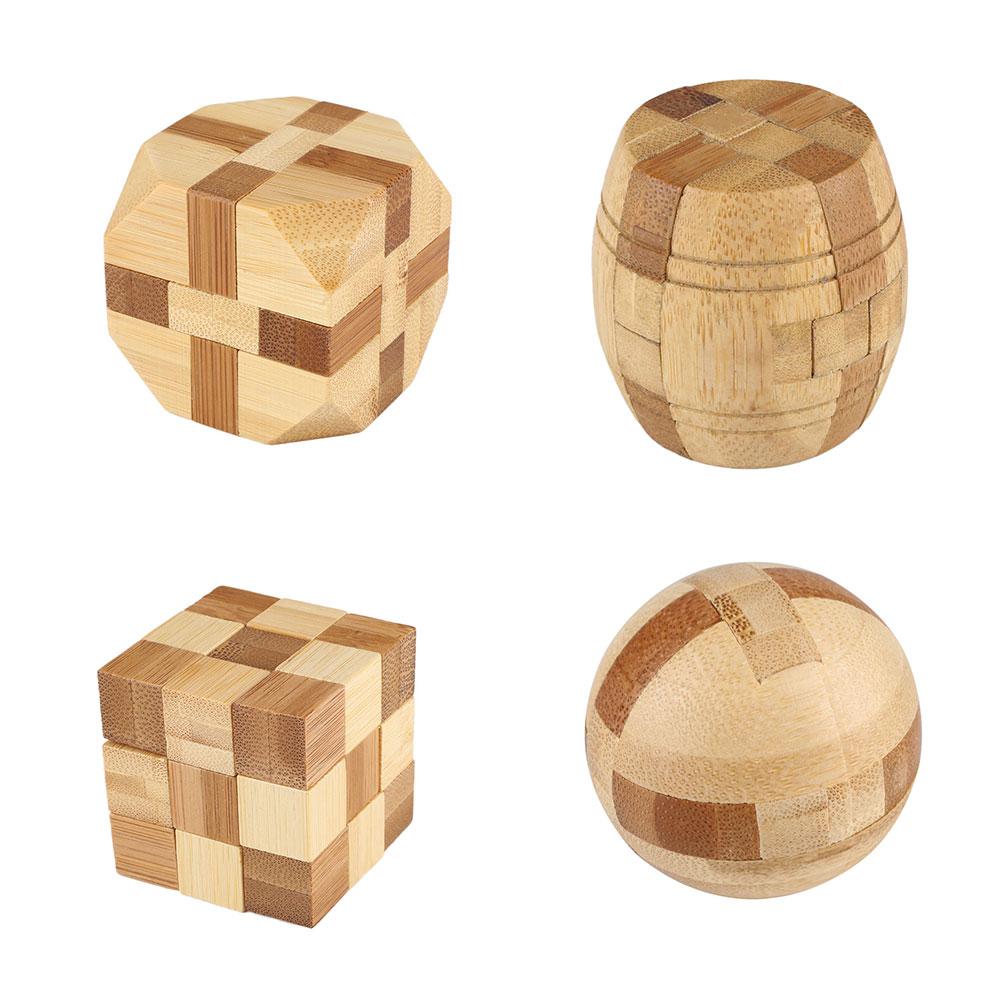 Intellectual Bamboo IQ Puzzle Kong Ming/Luban Lock Brain Teaser Education Game(China (Mainland))