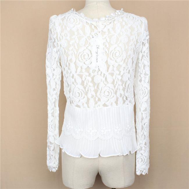 Белая Ажурная Блузка Купить