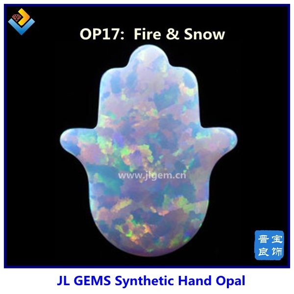 Wholesale Market 11*13 mm Hamsa/Hand Opal, Synthetic Price Fire Opal17 JLO-07(China (Mainland))