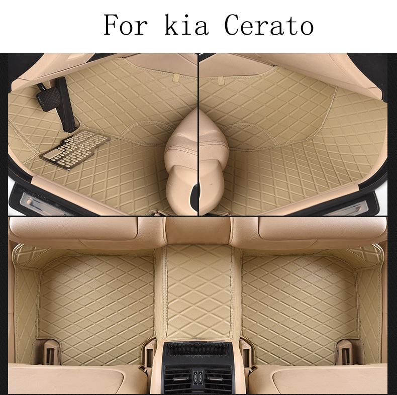 Фотография for kia spectra Cerato brand soft leather customize Car floor mats black grey brown Non-slip waterproof 3D car floor Carpets