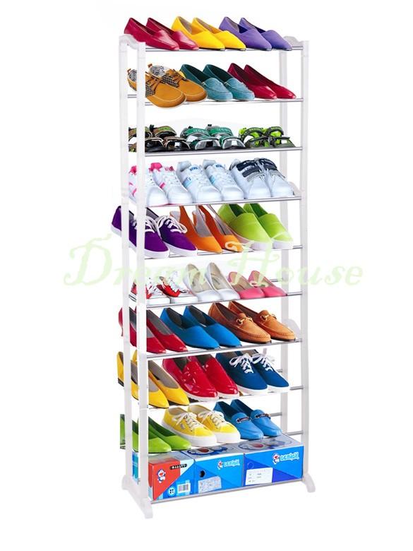 30 Pair 10 Tier Home Shoe Rack Shelf Storage Closet Organizer Cabinet Portable DIY Shoe Hanger High Quality 10(China (Mainland))