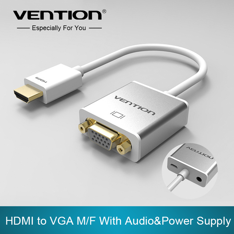 Vention HDMI to VGA Adapter Converter Cable with micro USB power 3.5mm audio interface for XBOX one PS3 PS4 HDTV PC Laptop(China (Mainland))