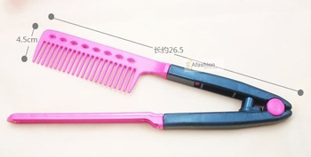 1pc hair v comb  hair treatment care combs professional brazilian indian hair styling tools