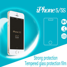 Retail Packaging 0.2mm Glass Screen Protector Film For Apple iPhone 5 5s SE Cell Phone Tempered Explosion Proof Steel Film