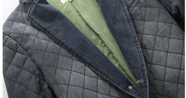 Осень зима мужские дизайнерские деним одежда, вилочная часть закрытый воротник приталенный встроенное толстый джинсы пиджак, тёплый блейзеры пальто