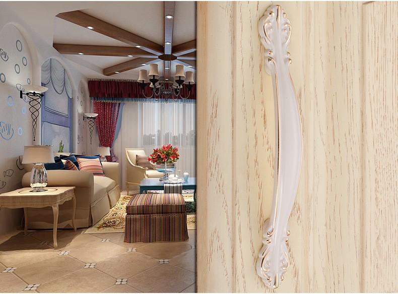 3pcs 96mm Zinc Alloy Kitchen cabinet Furniture Handle antique bedroom drawer pulls Ivory white color<br><br>Aliexpress