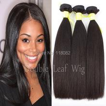 10A Double drwan ,brazilian hair weft,virgin hair weft,yaki straight hair 3pcs/lot,no tangle ,shedding(China (Mainland))