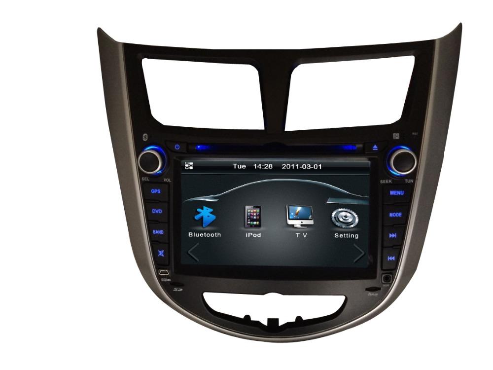 7inch Car Hyundai Solaris DVD Radio Receiver Player Accent Verna steering wheel control - E-MAX Electronics store