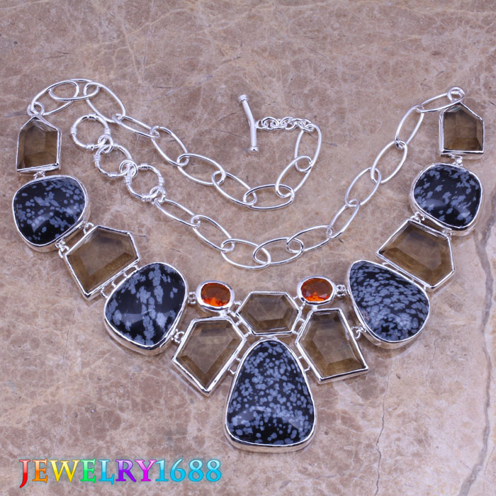 Trendy Black Natural Stone Brown Morganite 925 Sterling Silver Overlay High Quality Grade Fashion Jewelry Necklace L730<br><br>Aliexpress