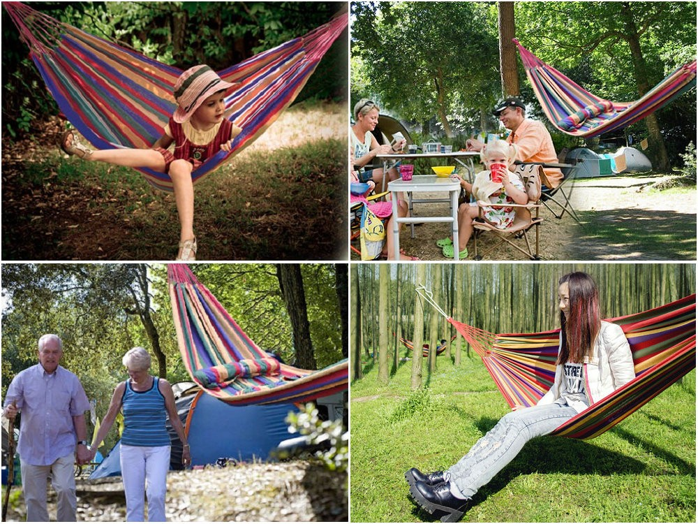 Portable 190 x 80cm Hammock Outdoor Sports Travel Camping Swing Hang Bed Picnic Pad Camping mat high quality.