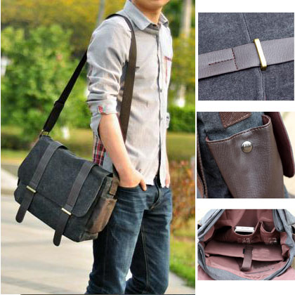 fashion men bags man canvas casual messenger bag male brand hasp cover - ShenZhen Webuy E-Commerce Co., Ltd. store