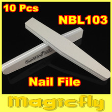[NBL103]10 x Double Side 100/180 High Quality Nail File Buffer Sanding Washable Manicure Tool + Free Shipping(China (Mainland))