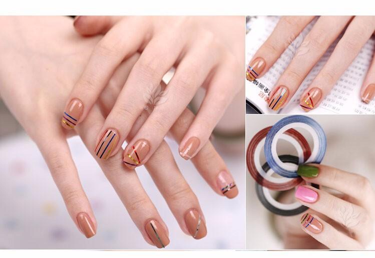 Дизайн для ногтей с лентами