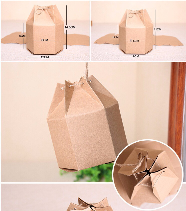 brown paper cardboard box for package,Kraft gift packaging box(China (Mainland))