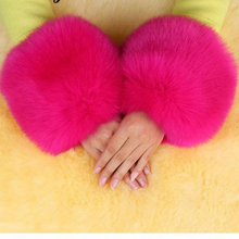 Wholesale grass hairy hand fake ring fox fur cuff cuff retaining sleeve mitts boot coat Clothing Accessories faux fur wrist cuff(China (Mainland))