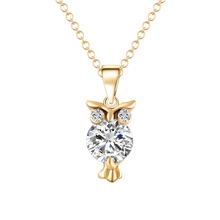 OBABY Jewelry Newest Owl zircon Choker necklace Dress Accessories European fashion necklace for Women