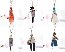 Buy Fashion Lady Girl Doll Necklace Dress Handmade Frence Charm Women Necklace Choker Statement Pendant Flower Jewelry Accessories ) for $2.99 in AliExpress store