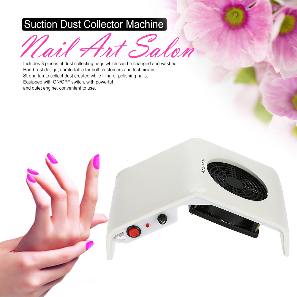 Professional 220V/110V 30W Nail Dust Collector Nail Art Salon Tool Vacuum Cleaner Suction Nail Dust Collector Machine(China (Mainland))