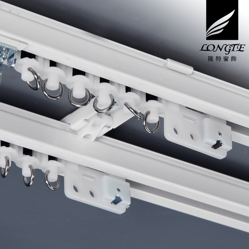 Stocks curtain track straight rail track monorail top mounted side-mounted rail track mute dark windows and balconies