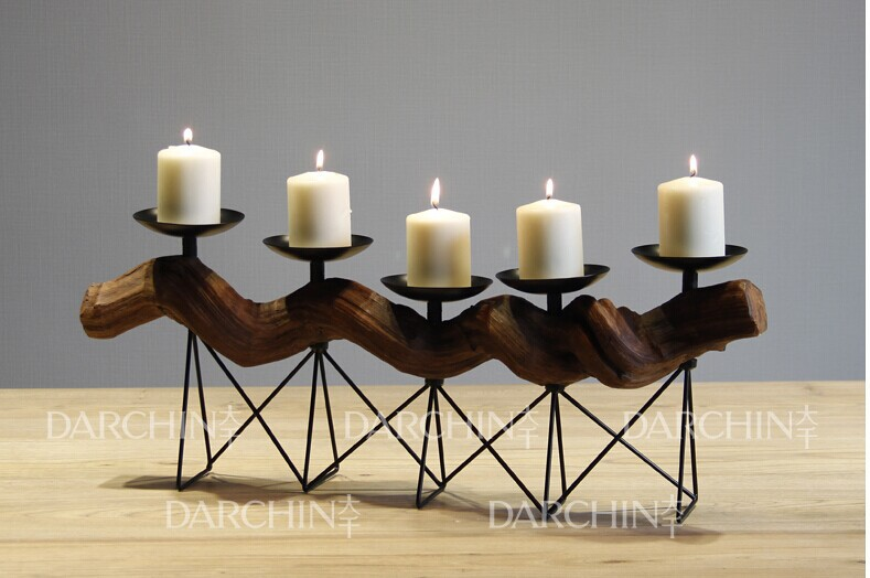 New design handed craft metal christmas wire candle holders(China (Mainland))