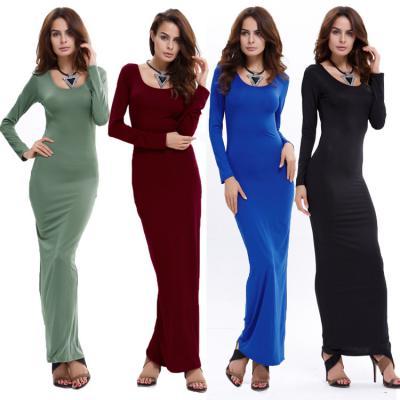 Vestido hot winter women Long Dress of micro V-neck dress sexy Slim package hip tight knit bottoming Dress Autumn Dress Vestidos