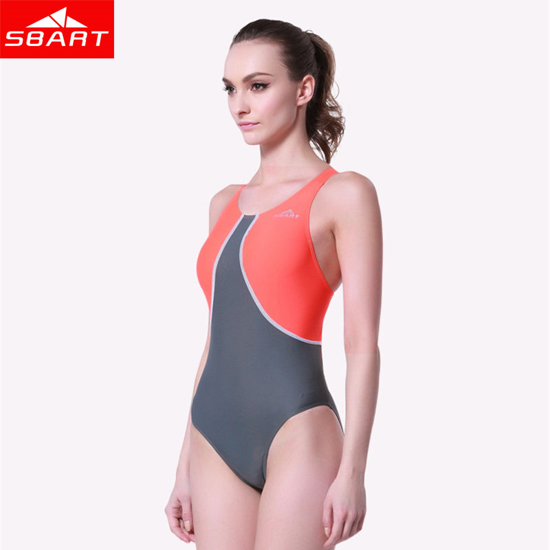 SBART women swimsuit One Piece Swimwear Competition Bathing Suits Swimsuits Competitive Swimming Plus Size Monokini Swimsuit L(China (Mainland))