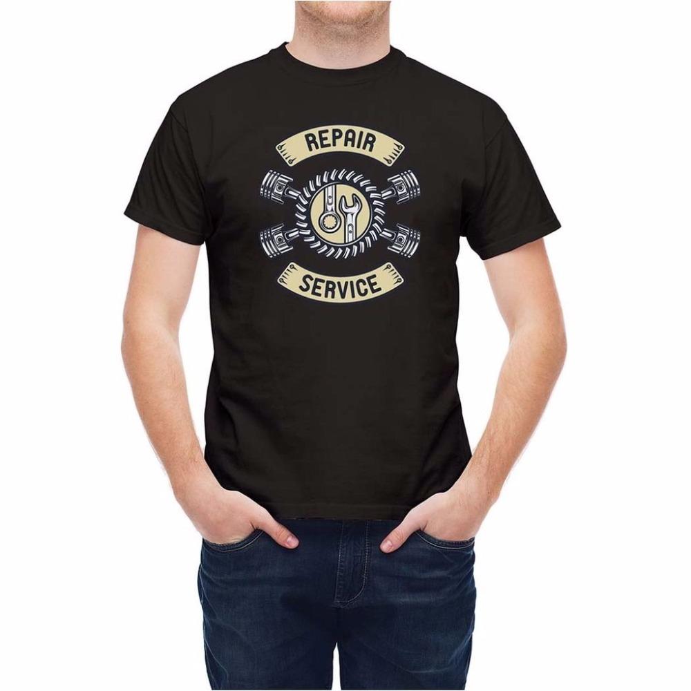 Shirt design china - New Fashion Brand Men Hip Hop Brand New Clothing Repair Service Pistons Emblem T Shirt Design